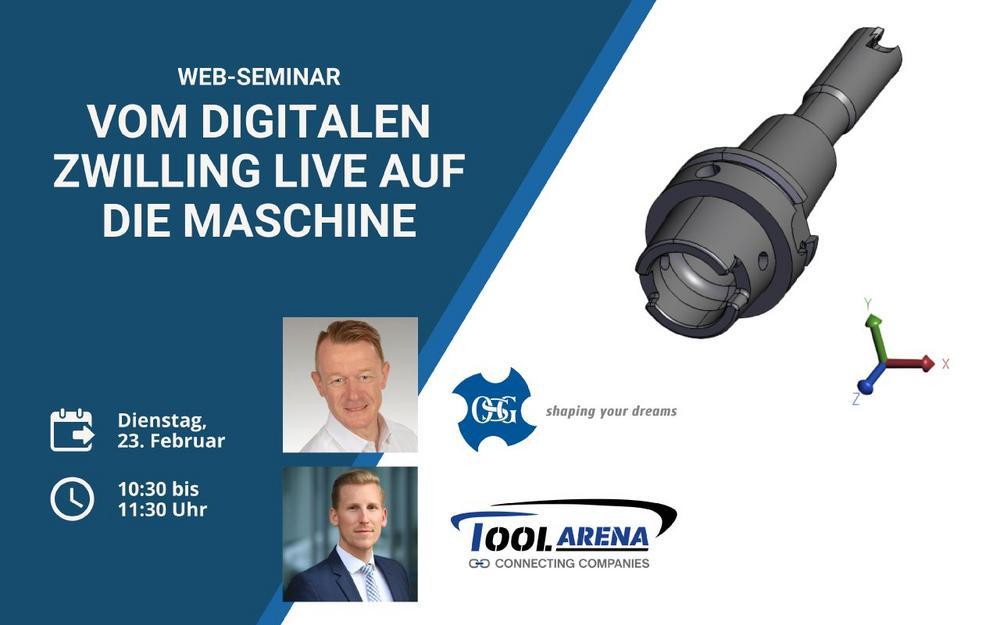 Web-Seminar: Vom digitalen Zwilling live auf die Maschine (Webinar | Online)