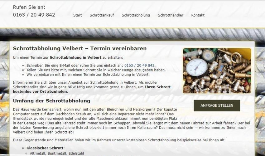 Schrottabholung Velbert (Sonstige Veranstaltung | Online)