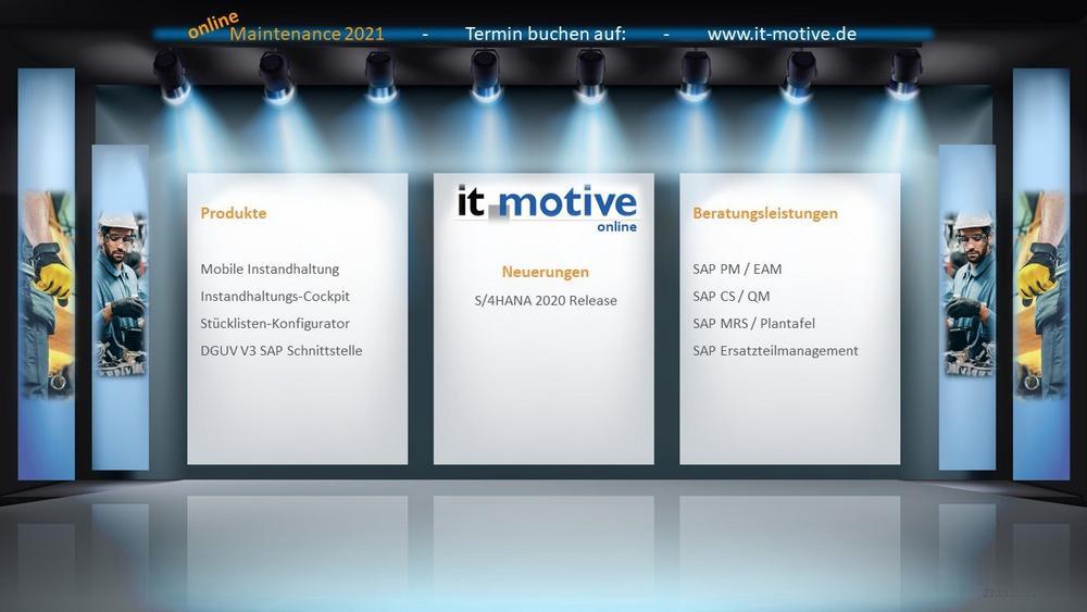 it-motive in diesem Jahr virtuell auf der Maintenance 2021 (Messe | Online)