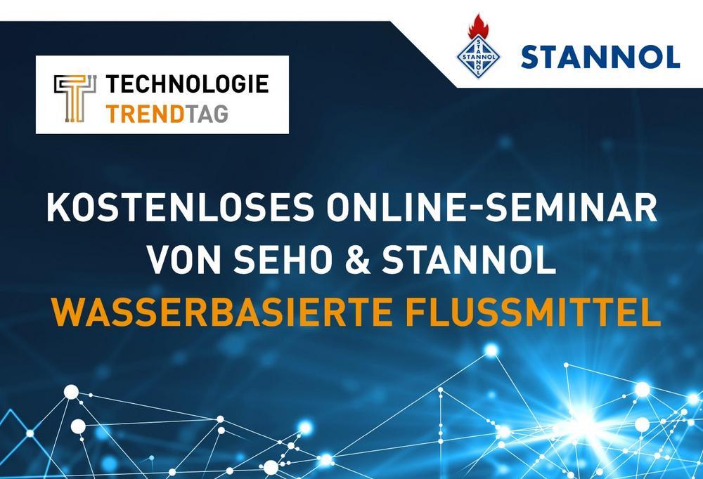 Kostenloses Online-Seminar rund um das Thema wasserbasierte Flussmittel von Stannol und SEHO (Webinar | Online)