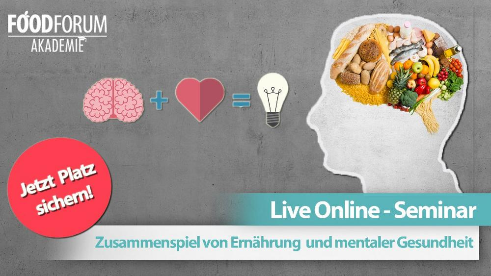 Das Zusammenspiel von Ernährung und mentaler Gesundheit (Seminar | Online)