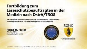 Laserschutzbeauftragtenkurs nach OstrV/TROS (Schulung | Online)