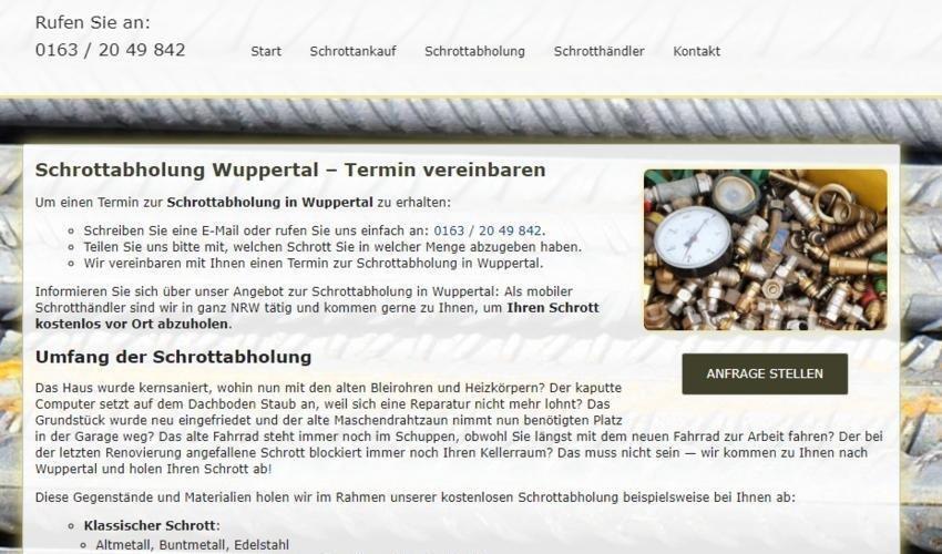 Schrottabholung in Wuppertal – Abholung Altmetall kostenlos (Sonstige Veranstaltung | Wuppertal)