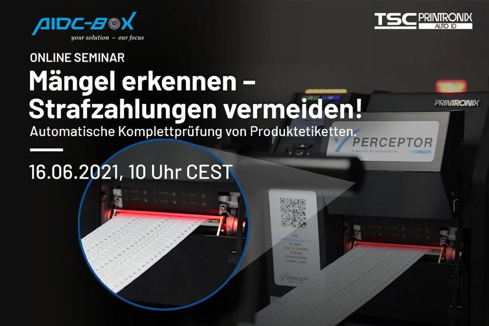 Automatische Komplettprüfung von Etiketten zur Produktkennzeichnung (Webinar | Online)