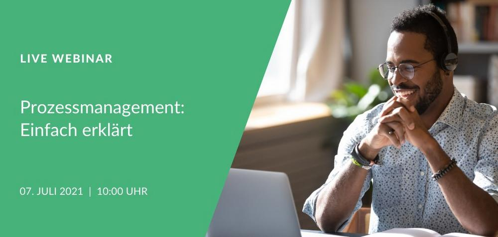Live Webinar: Prozessmanagement einfach erklärt (Webinar | Online)
