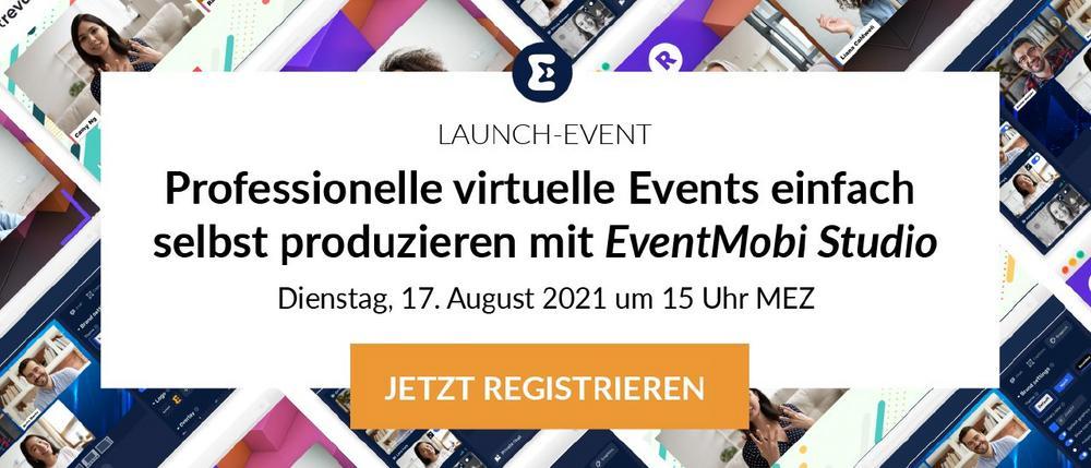 Professionelle virtuelle Events einfach selbst produzieren mit EventMobi Studio (Webinar | Online)