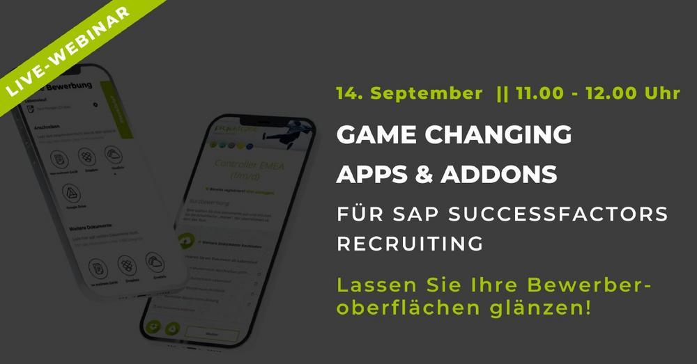 Game Changing Apps & AddOns für SuccessFactors Recruiting (Webinar   Online)