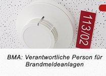 BMA: Verantwortliche Person nach DIN 14675 für Brandmeldeanlagen (TÜV) (Schulung   Berlin)