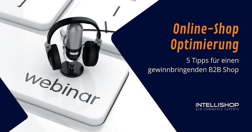 Online-Shop Optimierung: 5 Tipps für einen gewinnbringenden B2B Shop (Webinar | Online)
