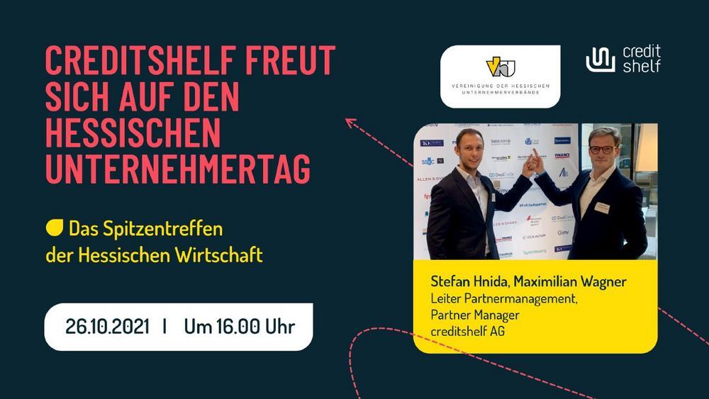 CREDITSHELF FREUT SICH AUF DEN HESSISCHEN UNTERNEHMERTAG (Kongress | Wiesbaden)