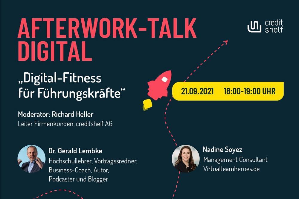 "AFTERWORK-TALK DIGITAL ""DIGITAL-FITNESS FüR FüHRUNGSKRäFTE"" (Webinar | Online)"